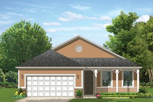 Ranch Exterior - Front Elevation Plan #1058-107