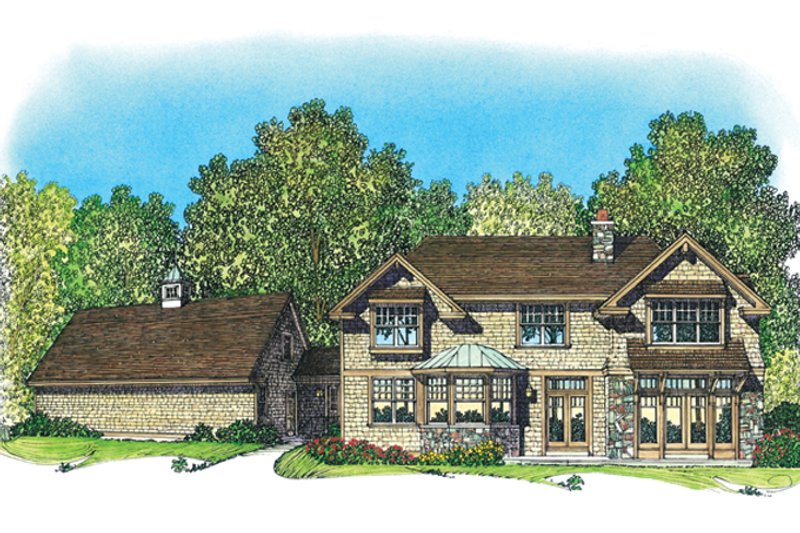 Craftsman Exterior - Rear Elevation Plan #1016-109 - Houseplans.com