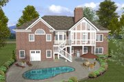 Ranch Style House Plan - 4 Beds 3.5 Baths 2000 Sq/Ft Plan #56-574 Exterior - Rear Elevation