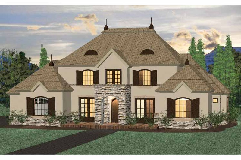 Architectural House Design - Country Exterior - Front Elevation Plan #937-32