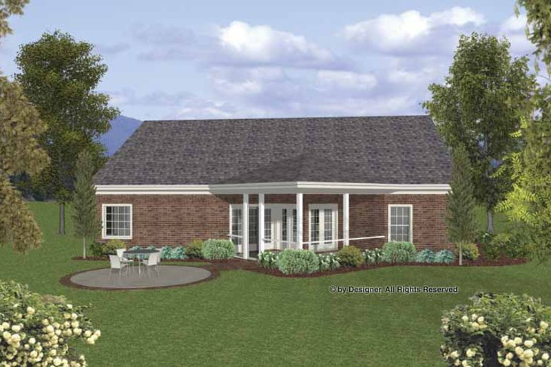 Traditional Exterior - Rear Elevation Plan #56-691 - Houseplans.com