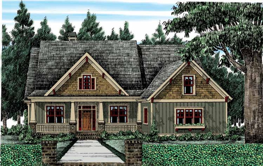 bungalow style house plan   4 beds 3 baths 2336 sq ft plan