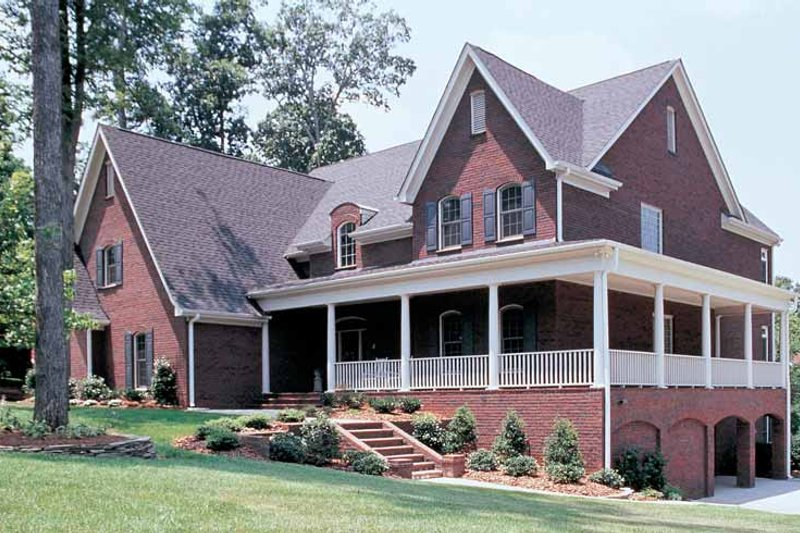 Architectural House Design - Colonial Exterior - Front Elevation Plan #453-246
