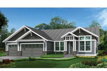 Dream House Plan - Craftsman Exterior - Front Elevation Plan #132-539