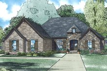 House Plan Design - European Exterior - Front Elevation Plan #17-3389