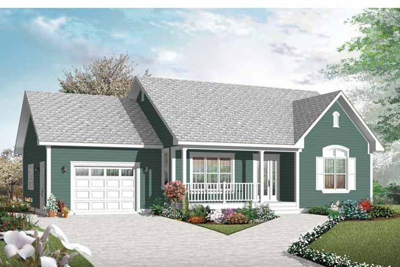 Home Plan - Country Exterior - Front Elevation Plan #23-2433