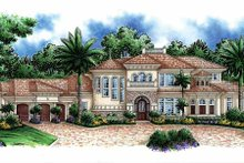 Mediterranean Exterior - Front Elevation Plan #1017-42