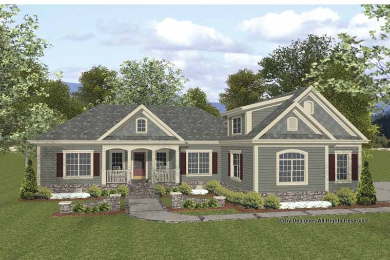 Traditional Exterior - Front Elevation Plan #56-677 - Houseplans.com
