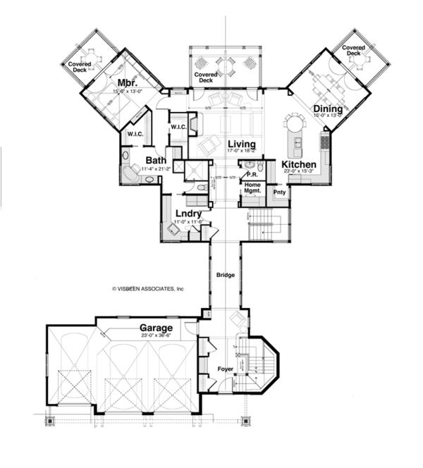 House Plan Design - Craftsman Floor Plan - Main Floor Plan #928-259