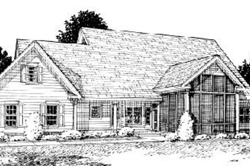 Farmhouse Exterior - Rear Elevation Plan #20-285 - Houseplans.com