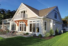 Home Plan - Country Exterior - Rear Elevation Plan #1010-106