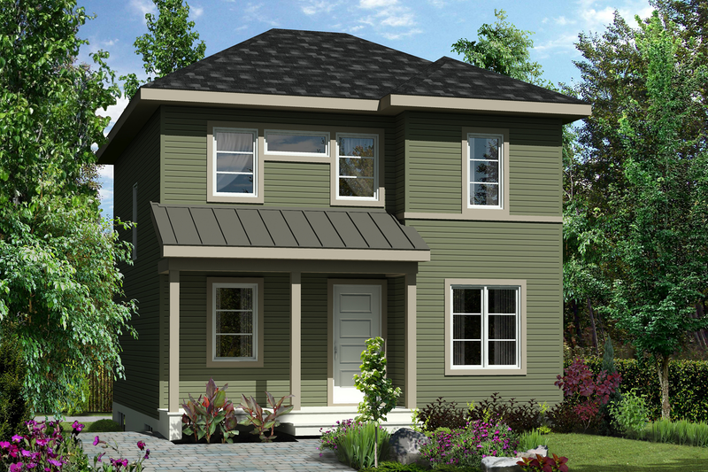 Contemporary Style House Plan - 3 Beds 2 Baths 1192 Sq/Ft Plan #25-4504 Exterior - Front Elevation