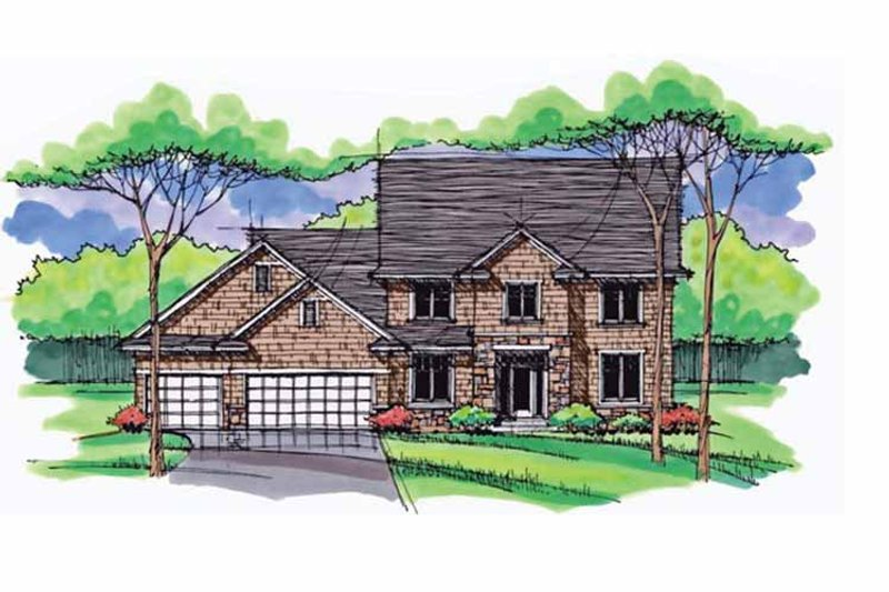 Dream House Plan - Colonial Exterior - Front Elevation Plan #51-1026