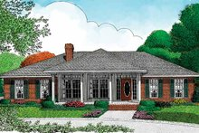 House Design - Mediterranean Exterior - Front Elevation Plan #11-243