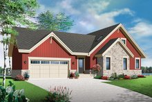Home Plan - Country Exterior - Front Elevation Plan #23-2590