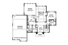 Traditional Floor Plan - Main Floor Plan Plan #1010-133