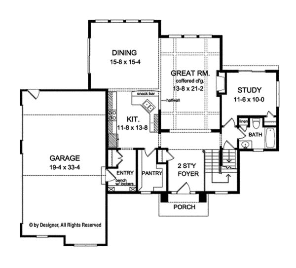 House Plan Design - Traditional Floor Plan - Main Floor Plan #1010-133