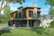Contemporary Style House Plan - 4 Beds 3 Baths 2808 Sq/Ft Plan #23-2314 Exterior - Front Elevation