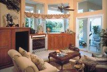 Colonial Interior - Family Room Plan #417-666