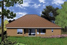 Home Plan - European Exterior - Rear Elevation Plan #1015-1
