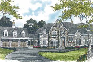 Architectural House Design - Country Exterior - Front Elevation Plan #453-233