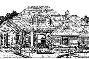 Colonial Exterior - Front Elevation Plan #310-725