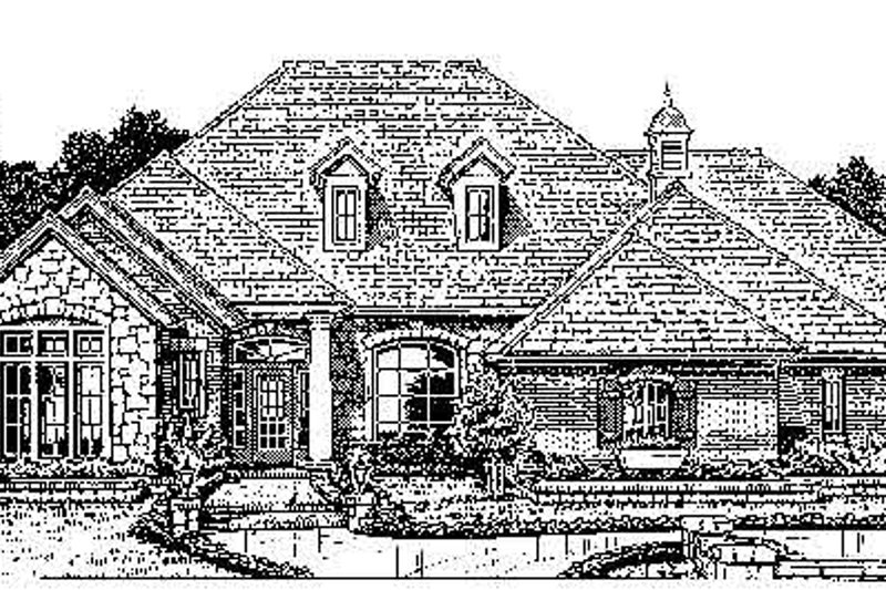 Colonial Style House Plan - 4 Beds 3.5 Baths 2570 Sq/Ft Plan #310-725 Exterior - Front Elevation