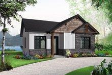 Cottage Exterior - Front Elevation Plan #23-2298