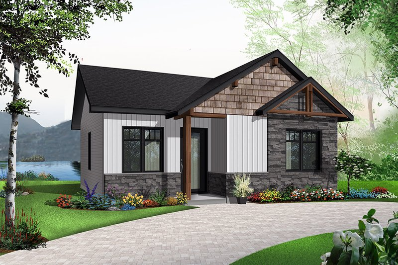 Dream House Plan - Cottage Exterior - Front Elevation Plan #23-2298