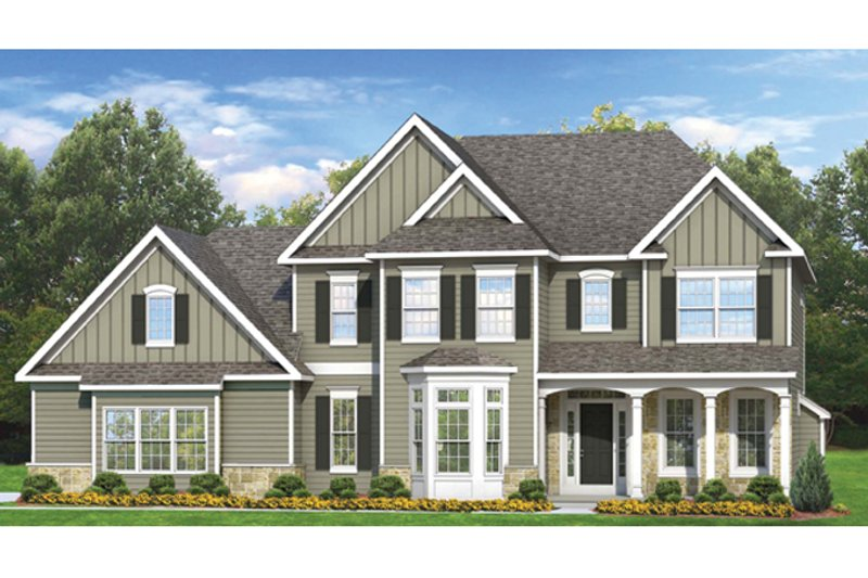 Architectural House Design - Colonial Exterior - Front Elevation Plan #1010-61