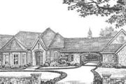European Style House Plan - 3 Beds 3.5 Baths 3633 Sq/Ft Plan #310-337 Exterior - Front Elevation