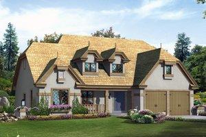 House Design - European Exterior - Front Elevation Plan #57-676
