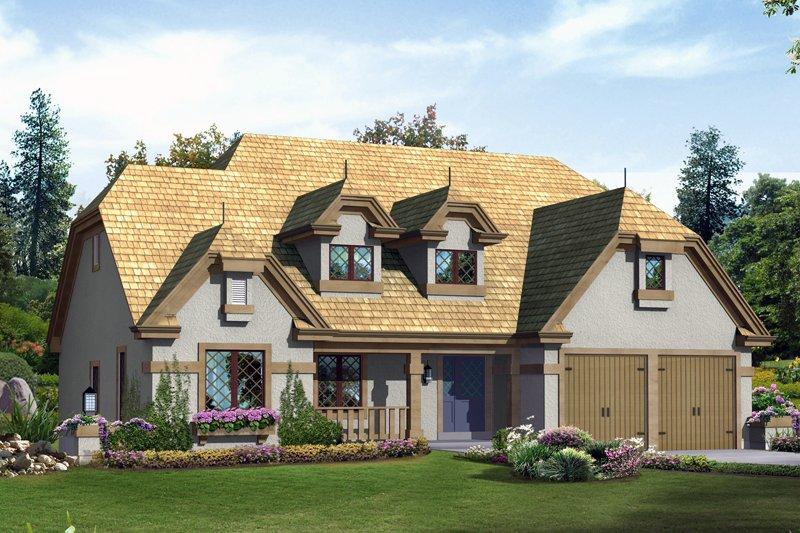 House Plan Design - European Exterior - Front Elevation Plan #57-676