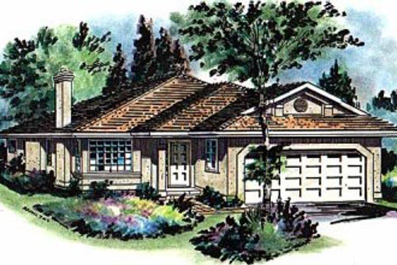 House Blueprint - Ranch Exterior - Front Elevation Plan #18-136