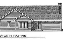 Dream House Plan - Traditional Exterior - Rear Elevation Plan #70-126