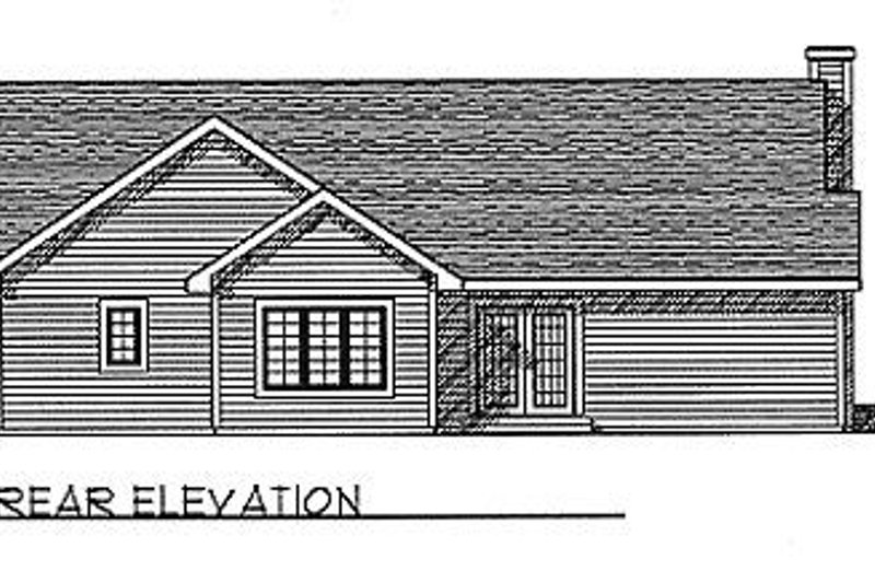 Traditional Exterior - Rear Elevation Plan #70-126 - Houseplans.com