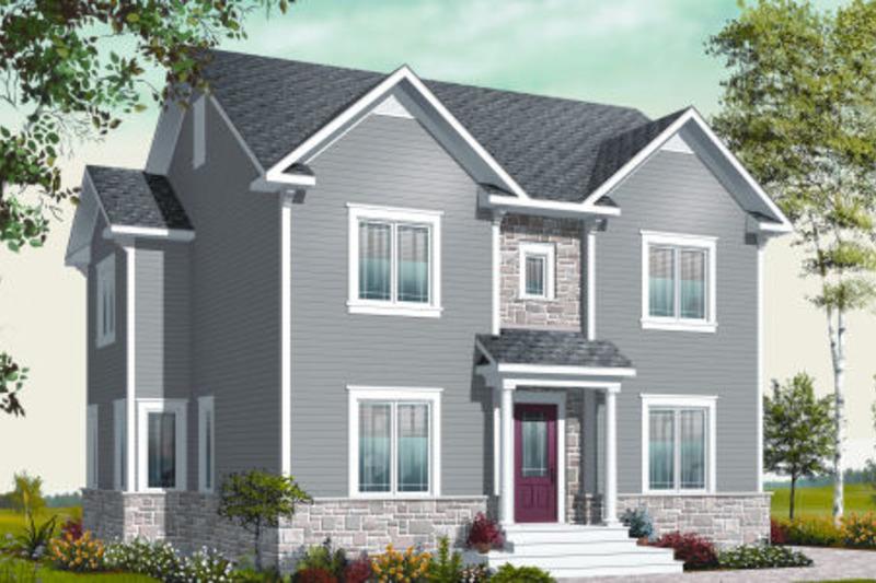 Colonial Exterior - Front Elevation Plan #23-2284 - Houseplans.com