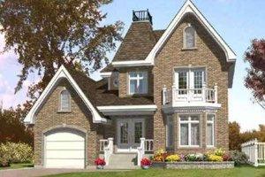 Cottage Exterior - Front Elevation Plan #138-137