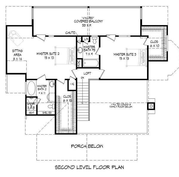 House Plan Design - Country Floor Plan - Upper Floor Plan #932-144