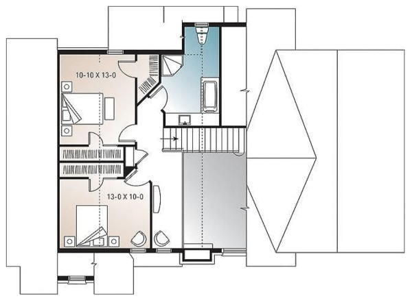 Cottage Floor Plan - Upper Floor Plan Plan #23-417