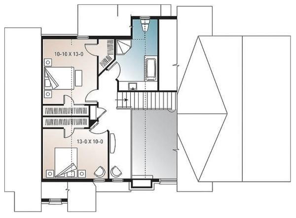 Home Plan - Cottage Floor Plan - Upper Floor Plan #23-417