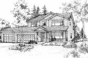 Traditional Style House Plan - 4 Beds 2.5 Baths 2572 Sq/Ft Plan #78-107 Exterior - Front Elevation