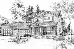 Traditional Exterior - Front Elevation Plan #78-107