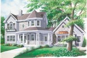 Victorian Style House Plan - 3 Beds 2.5 Baths 1936 Sq/Ft Plan #23-2016 Exterior - Front Elevation