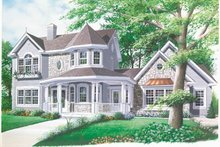 Home Plan - Victorian Exterior - Front Elevation Plan #23-2016