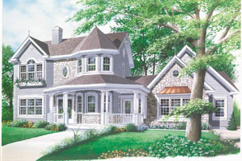 Architectural House Design - Victorian Exterior - Front Elevation Plan #23-2016