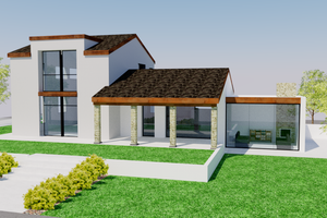 Home Plan - Contemporary Exterior - Front Elevation Plan #542-20