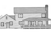 Country Style House Plan - 4 Beds 3 Baths 2356 Sq/Ft Plan #312-550 Exterior - Rear Elevation