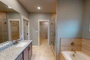 European Style House Plan - 3 Beds 2 Baths 1640 Sq/Ft Plan #923-38