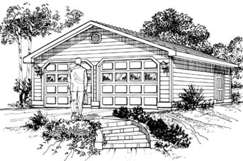 Traditional Exterior - Front Elevation Plan #47-493